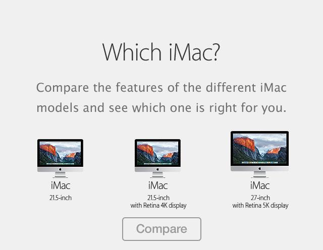 Compare iMac