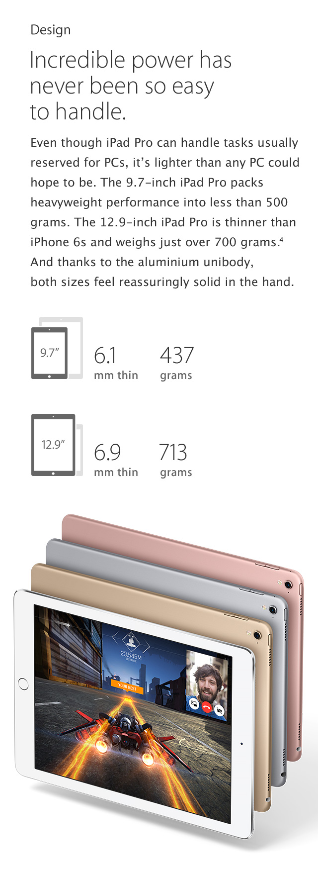 iPad Pro features