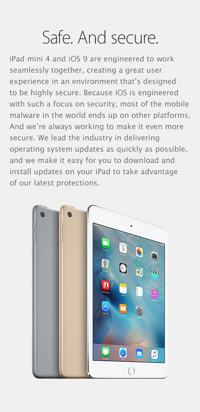 iPad mini 4 feature