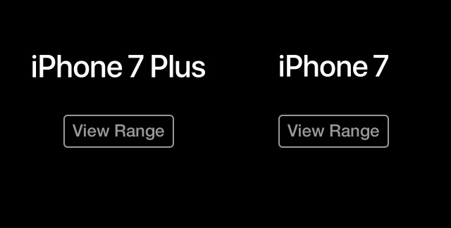 iPhone 7 red view range
