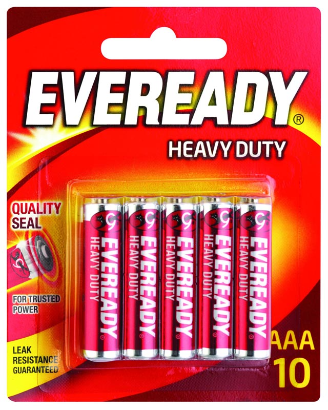 Eveready Battery Heavy Duty Red AAA 10 Pack