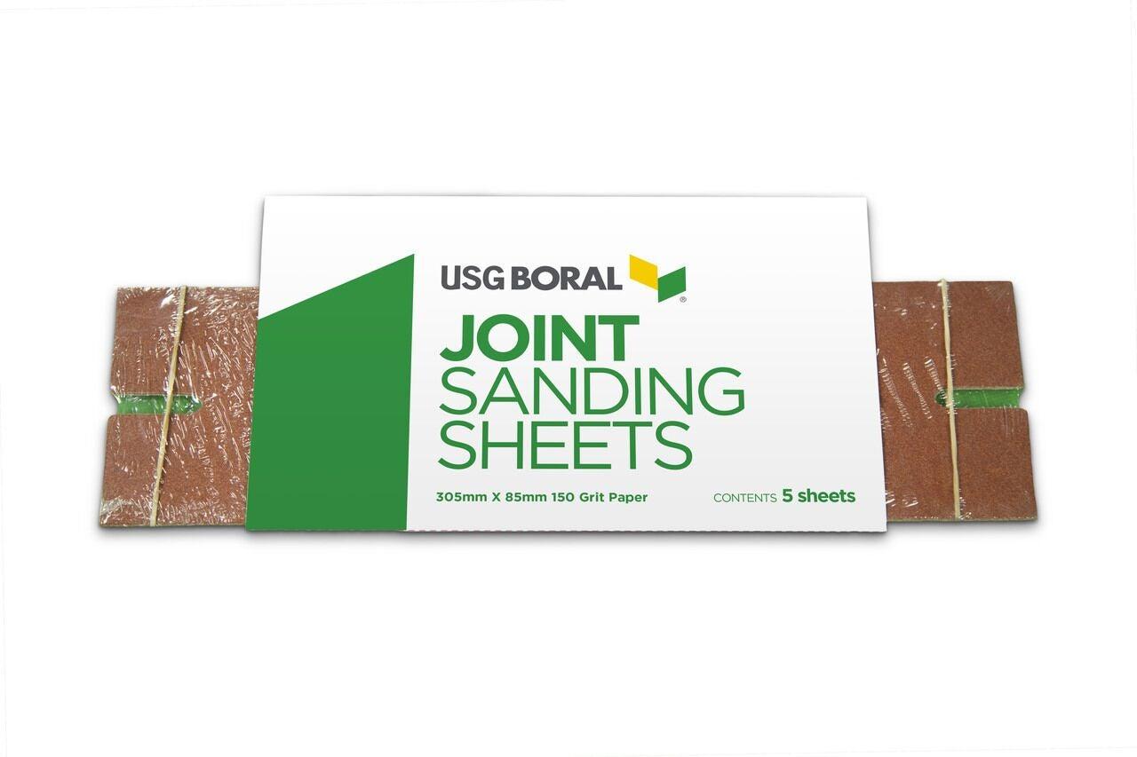USG Boral Sandpaper 150 Grit 5 Pack 305mm x 85mm