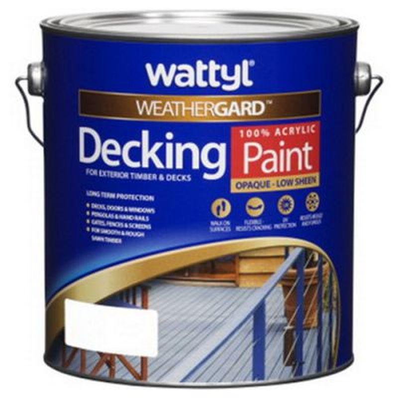 Weathergard Decking Paint Low Sheen White 10L