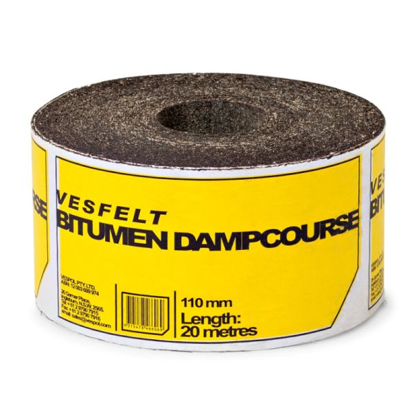 Vesfelt Felt Bitumen Dampcourse 110mm x 20m