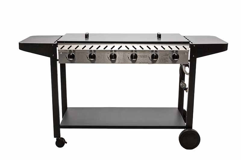 Deluxe 6 Burner Solid Plate BBQ