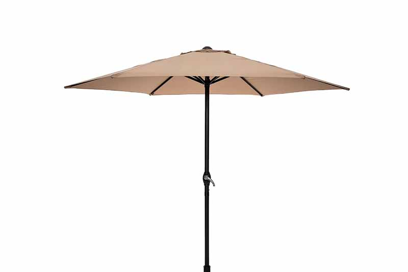 Steel Market Umbrella 2.5M Taupe