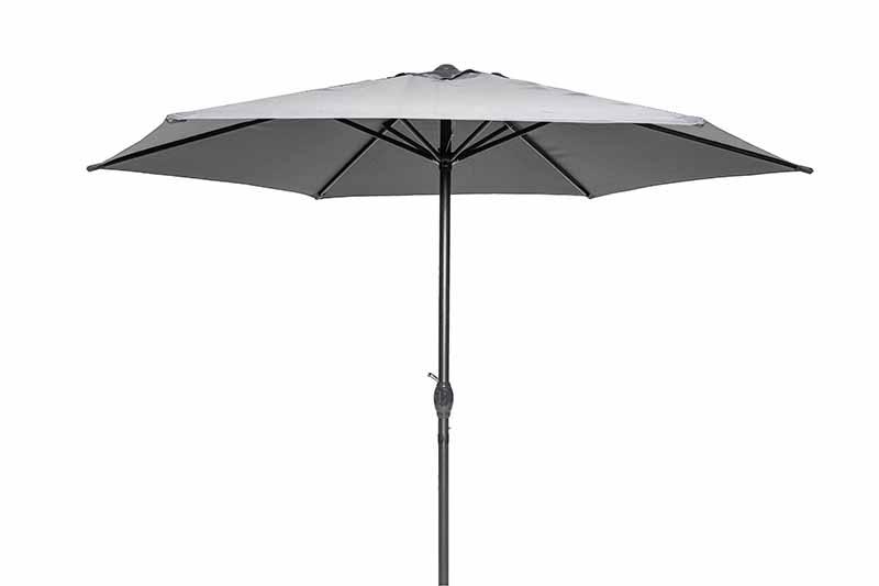 Steel Market Umbrella 2.5M Charcoal