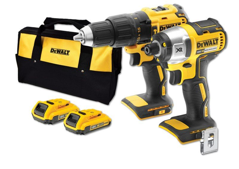 DeWALT 18V XR Li-Ion 2.0Ah 2 Piece Kit