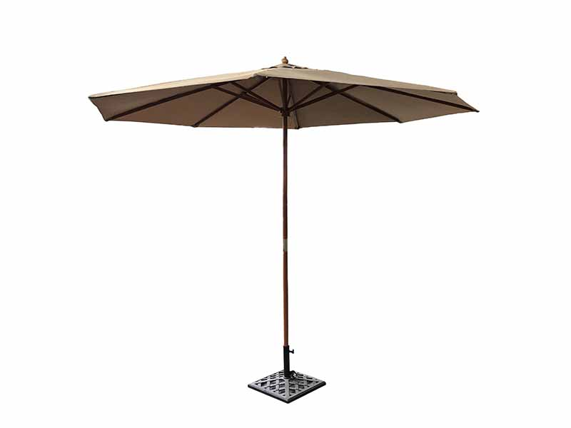 Timber Market Umbrella 2.95M Natural