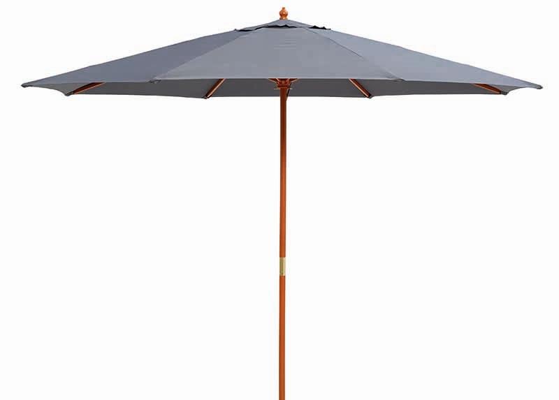 Timber Market Umbrella 2.95M Charcoal
