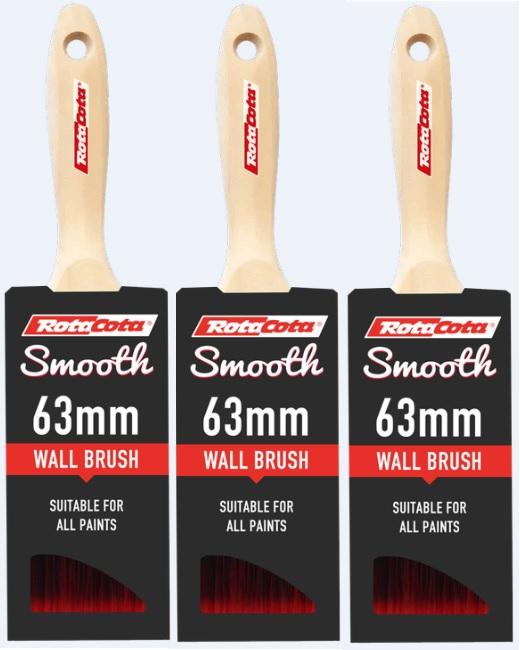 RotaCota Smooth Wall Brush 63mm 3Pk