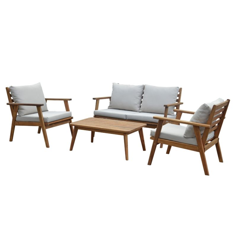 Trinidad 4 Piece Timber Lounge Setting
