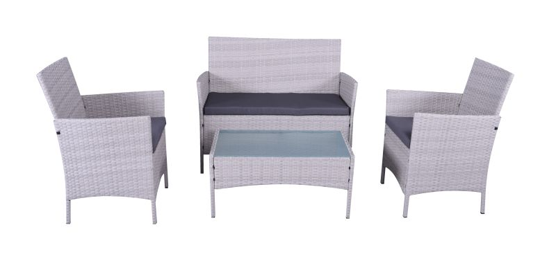Yorkshire 4 Piece Wicker Lounge Setting