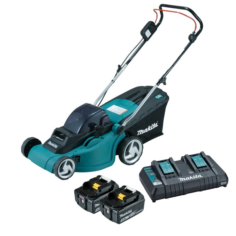 "Makita 36V (18Vx2) Lawn Mower 380mm (15"") Kit DLM380PT2"
