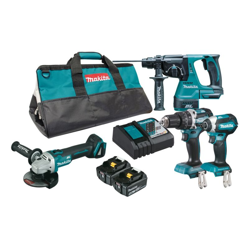 Makita 18V 4Pce Brushless Combo Kit DLX4102T