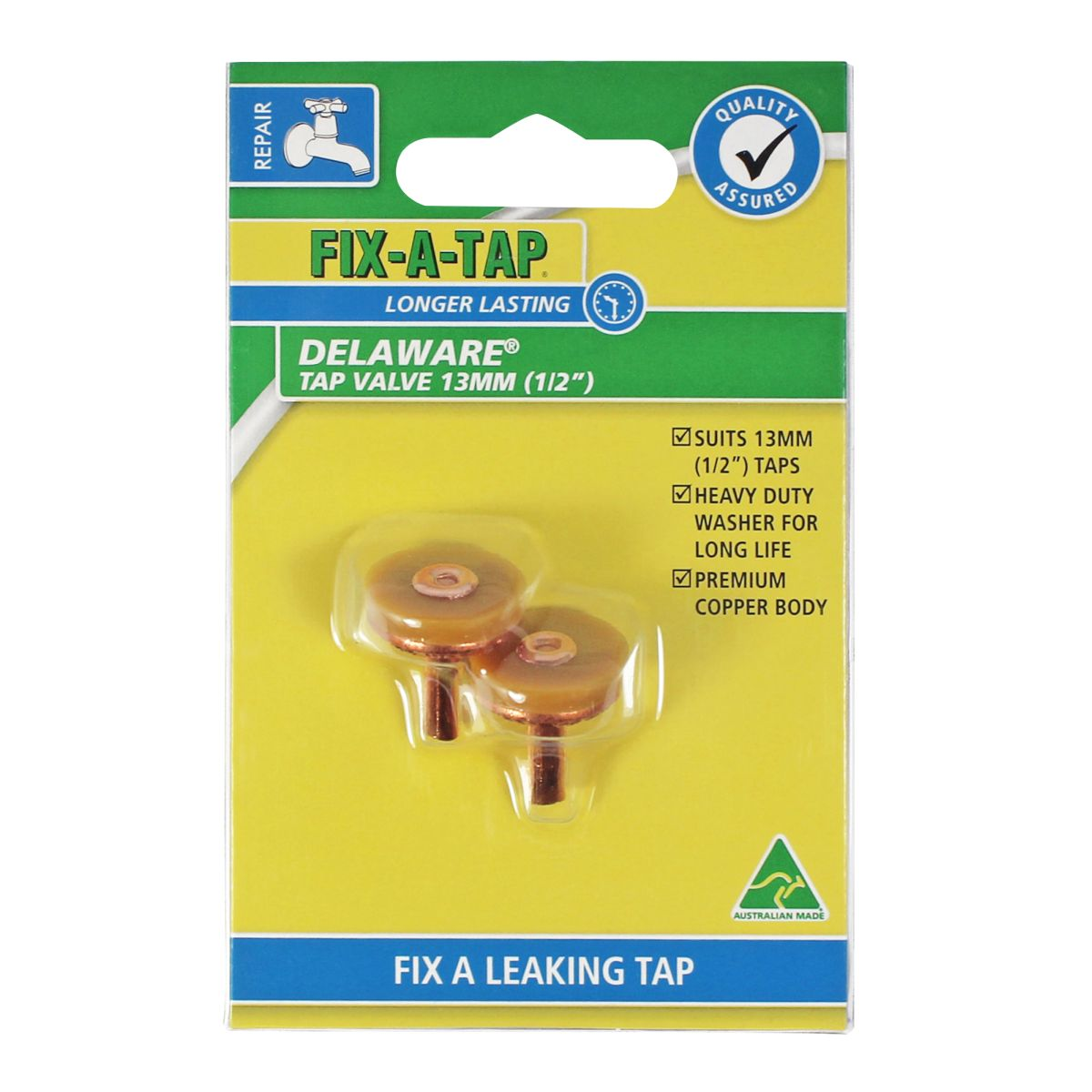 FIX-A-TAP Delaware Tap Valve 13mm 2 Pack