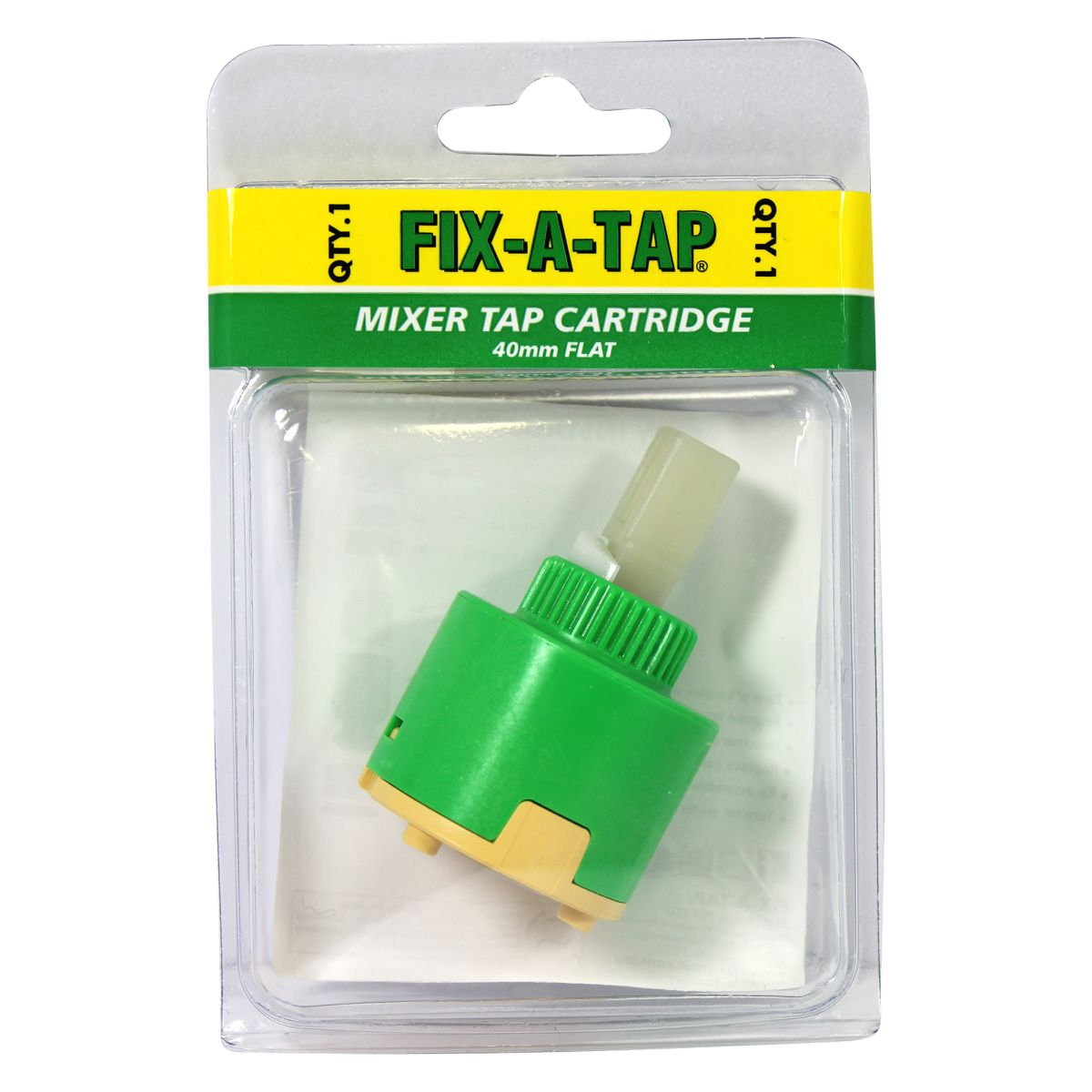 FIX-A-TAP Mixer Tap Cartridge Flat 40mm