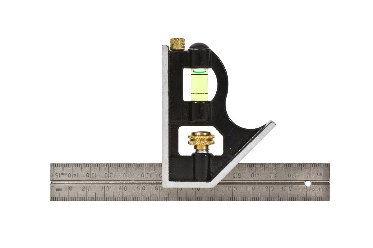 SUPERCRAFT COMBINATION SQUARE 150mm Stainless Steel
