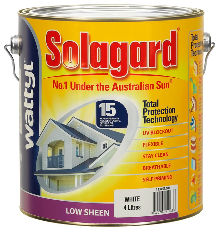 Wattyl Solagard 4L Low Sheen