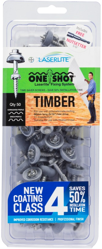 Laserlite Oneshot Timber Fixings 50mm 50 Pack