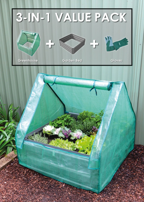 3 in 1 Greenhouse Garden Bed