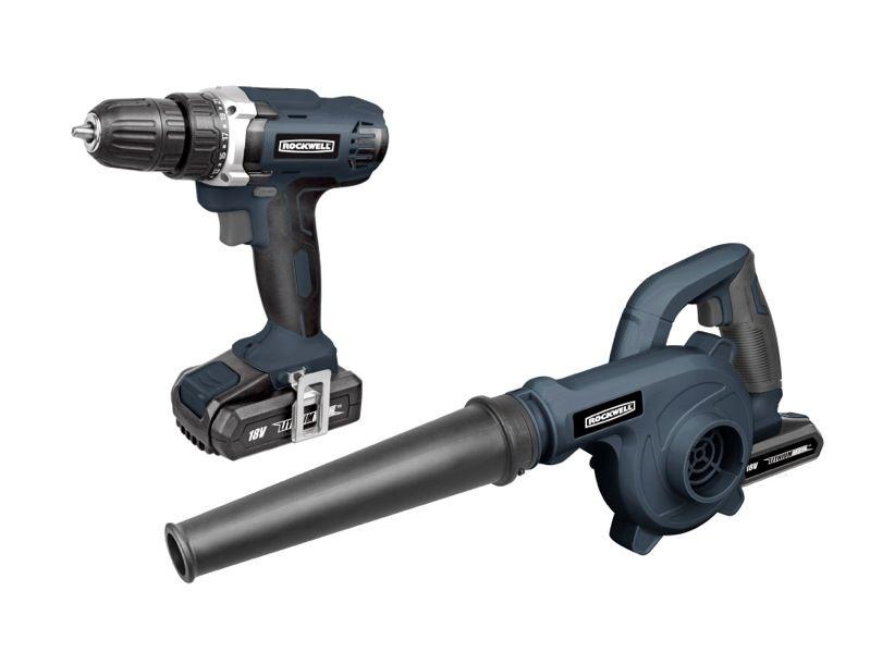 Rockwell 18V Drill Driver Kit With Bonus Blower
