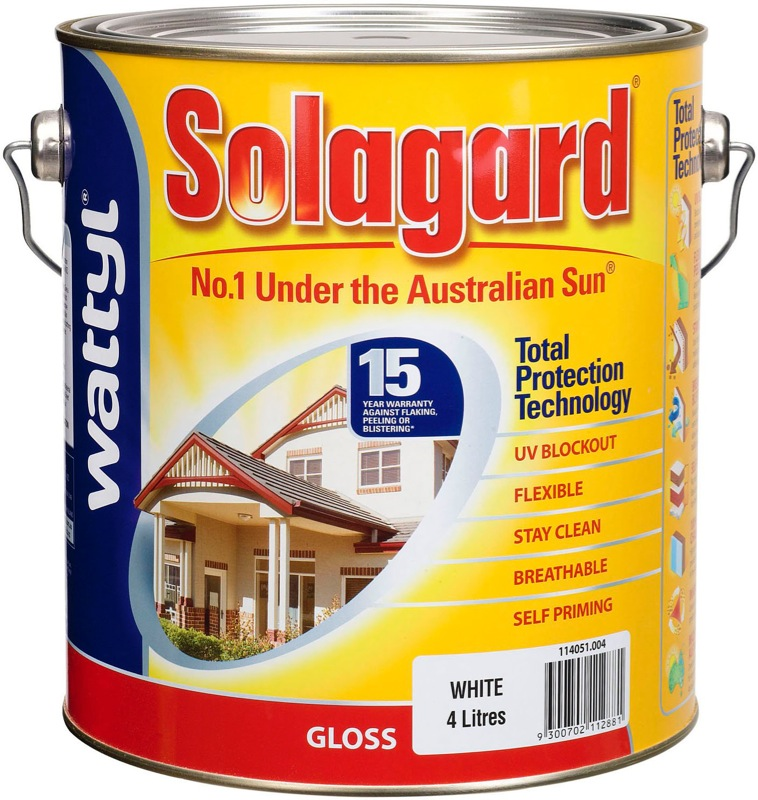 Wattyl Solagard 4L Gloss
