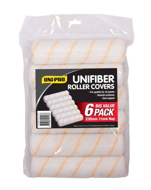 Uni-Pro Unifiber 230mm Roller Covers 6 Pack