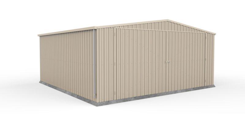 Absco 5.60m x 5.50m x 2.66m Eco-Nomy Double Barn Door Garage