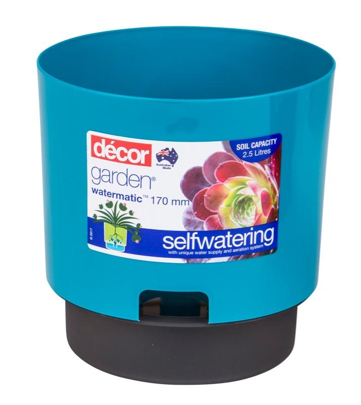 Watermatic Self Watering Pot Teal 170mm