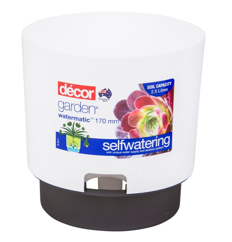 Watermatic Self Watering Pot White 170mm