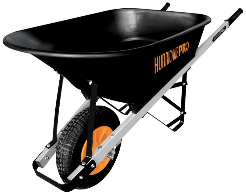 HurricanePro Poly Tray Wheelbarrow 100L