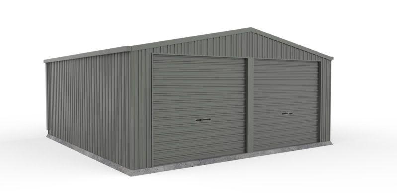 Absco 6.00m x 6.00m x 2.50m Eco-Nomy Double Roller Door Garage