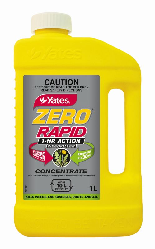 Yates Zero Rapid 1 Hour Action Weedkiller Concentrate