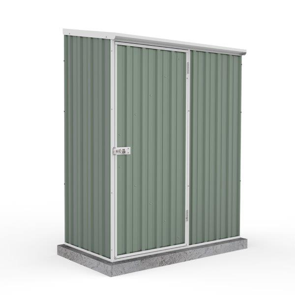 Absco 1.52m x 0.78m x 1.95m Eco-Nomy Single Door Shed