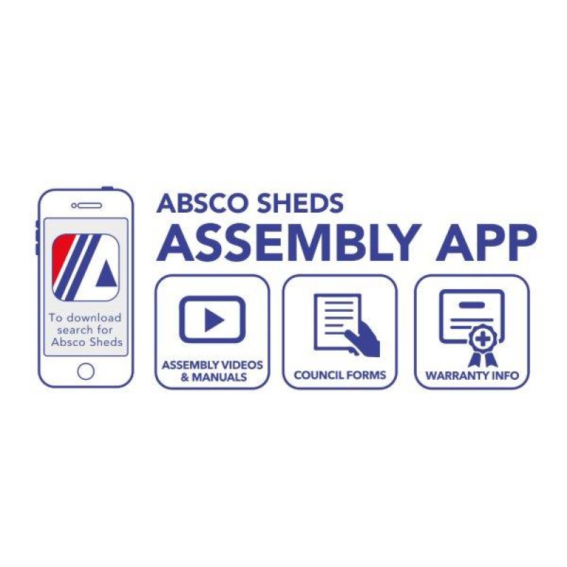 Absco 2.26m x 0.78m x 1.31m Woodland Grey 3 Door Bike Shed