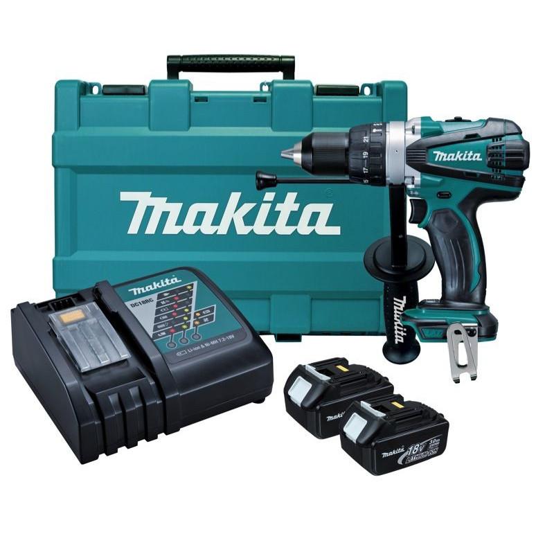 Makita 18V Hammer Driver Drill Kit DHP458RFE