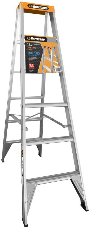 Hurricane™ Dual Punch™ 1.8m Double Sided Ladder 150kg Industrial