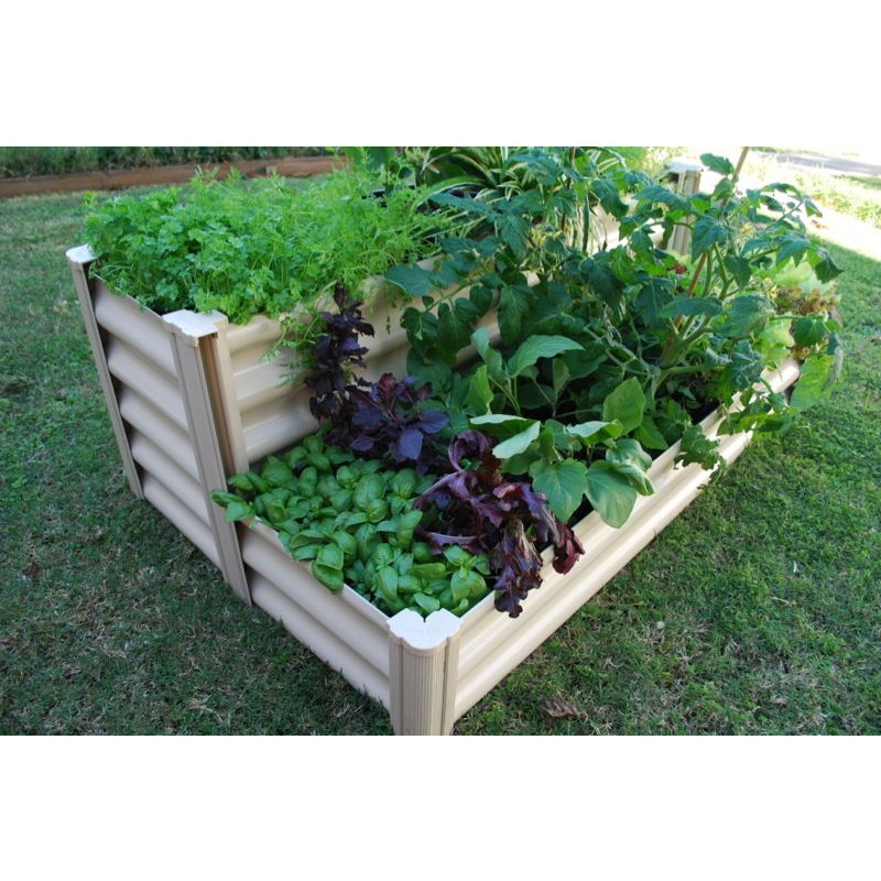 hexies 077m x 090m x 035m tiered raised garden bed merino - Garden Bed