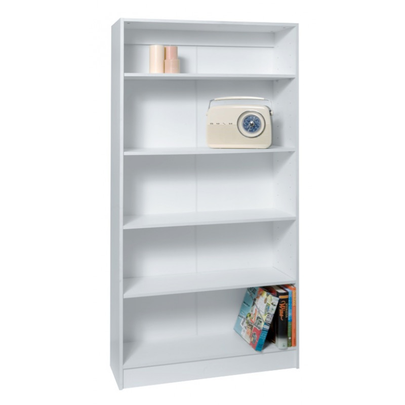 1800mm X 900mm 300mm Large White Bookcase