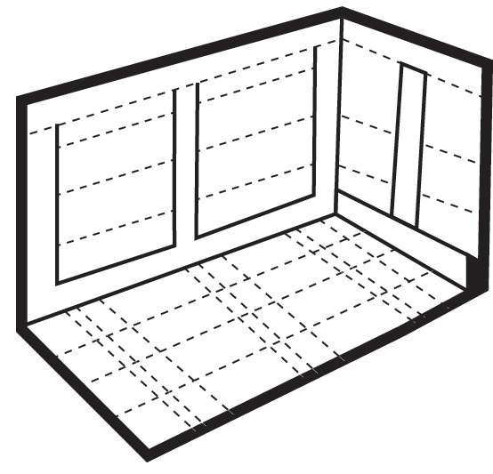 Diagram 6 - Battens to hold sides at top