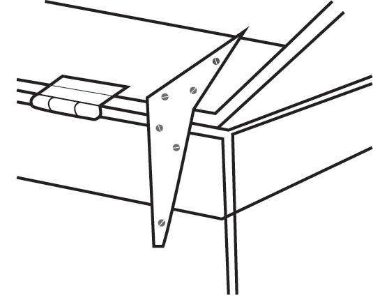 Diagram 7 - Hinges in place