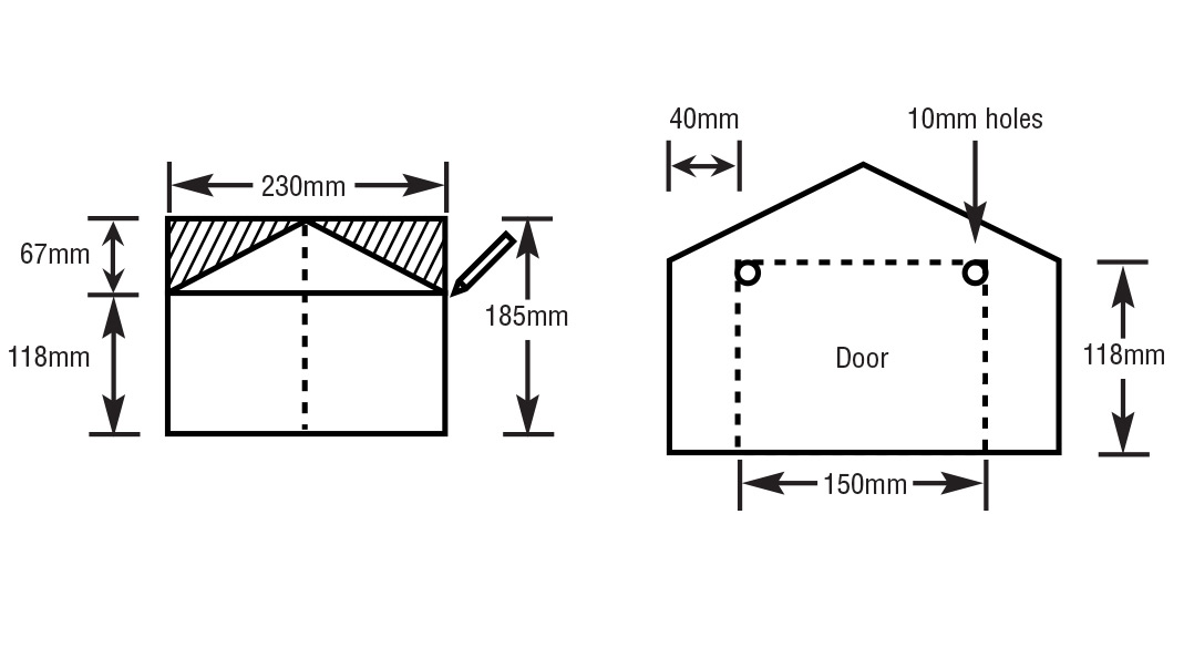 timber letterbox dimensions