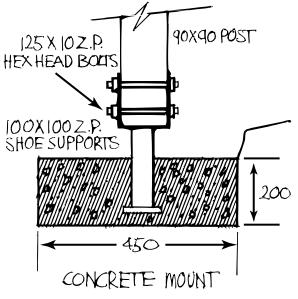 pergola concrete mount