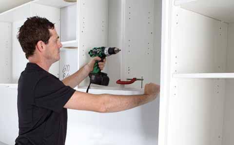 Kitchen cabinet installation instructions