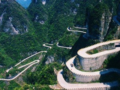 illustration of Ride the Tianmen Shan Big Gate Rd #1