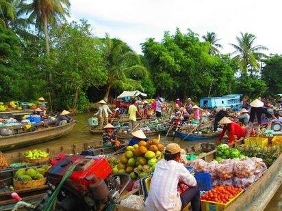illustration of Phong Dien Floating Market #1