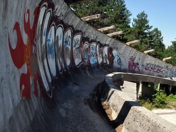 illustration of Abandoned Olympic Bobsled Track #2