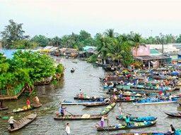 illustration of Phong Dien Floating Market #2