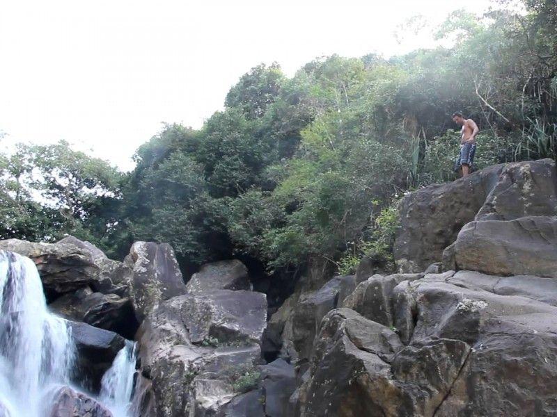 illustration of Ba Ho Waterfalls Cliff Jumping #2